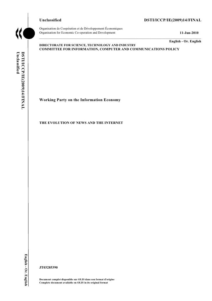 Unclassified                                                     DSTI/ICCP/IE(2009)14/FINAL                               ...
