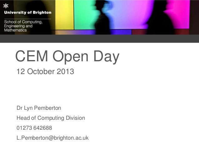 Computing degrees at University of Brighton 2014-15