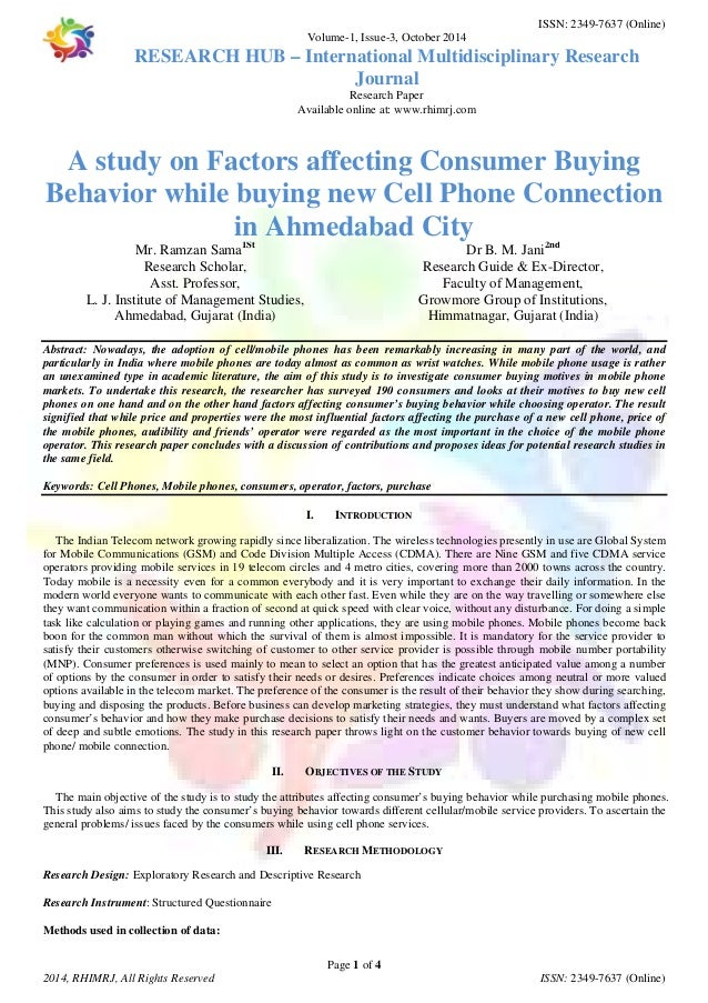 Research papers on consumer buying behavior feedback for custom writting website