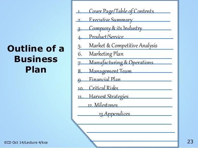Dissertation Outline Plan