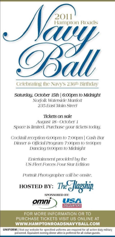 Navy Ball Info