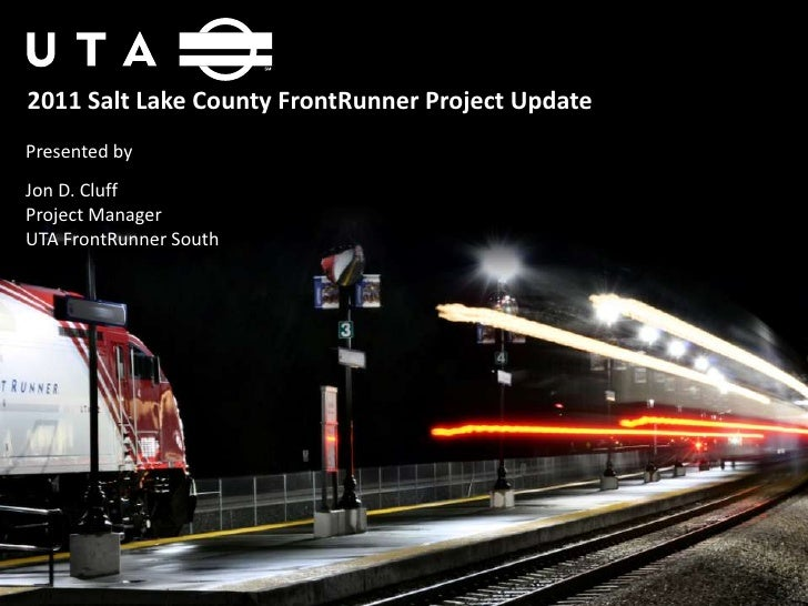 FrontRunner South Project Update Oct 2011