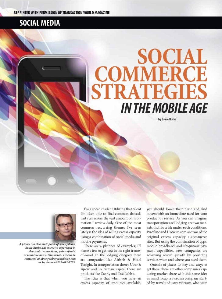 REPRINTED WITH PERMISSION OF TRANSACTION WORLD MAGAZINE   SOCIAL MEDIA                                                    ...