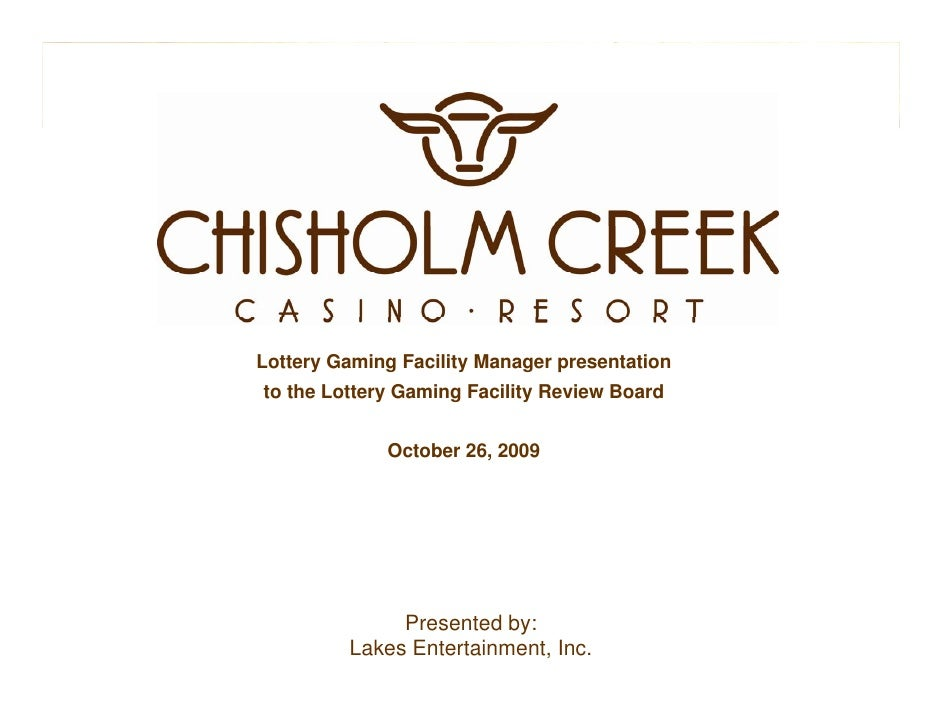 Oct chisholm creek presentation final