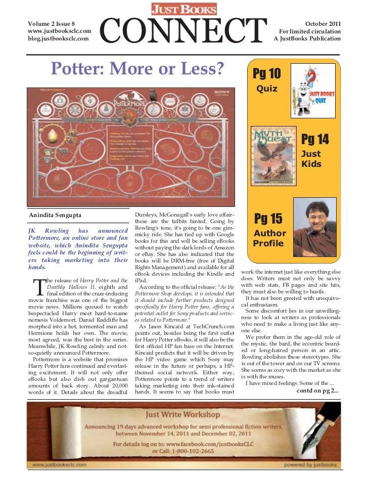 JustBooks - October 2011 Newsletter