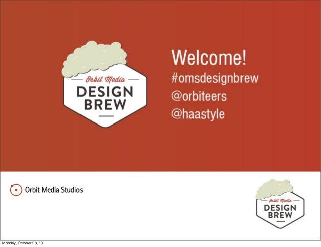 October Design Brew: Web Myths Debunked