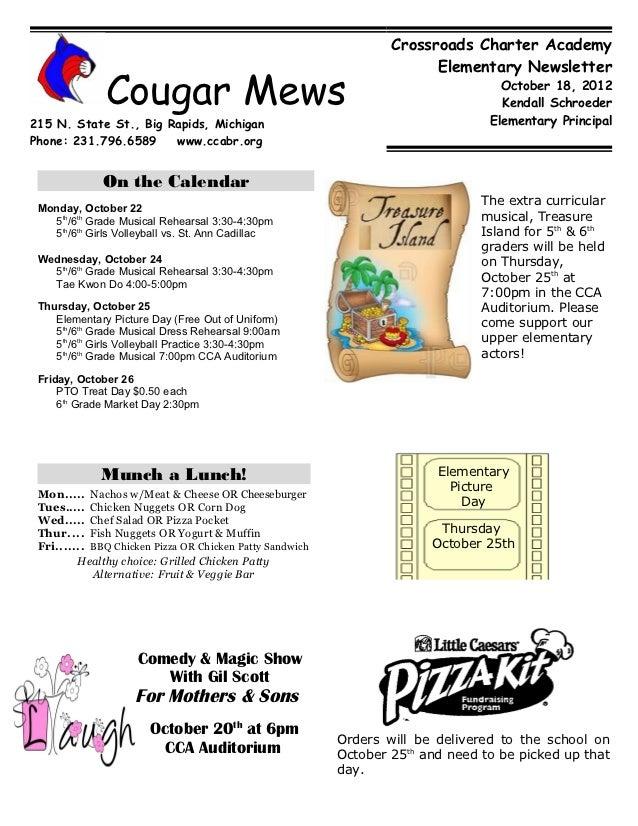 October 18 Newsletter