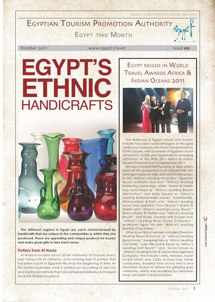 Egyptian Tourism Promotion Authority News letter      Egyptian tourism promotion authority                                ...