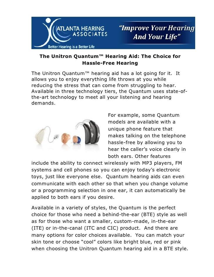 Unitron Quantum Hearing Aid Milledgeville GA