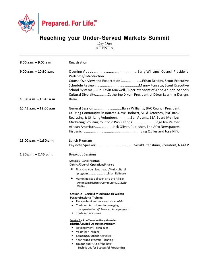 Reaching your Under- Served Markets Summit                                                 Day One                        ...