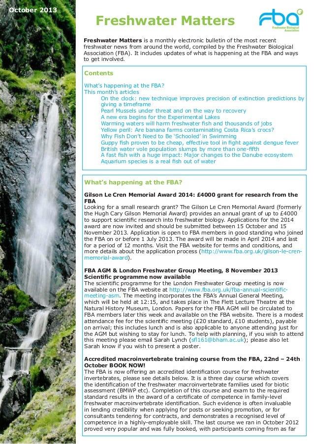 Freshwater Matters October2013