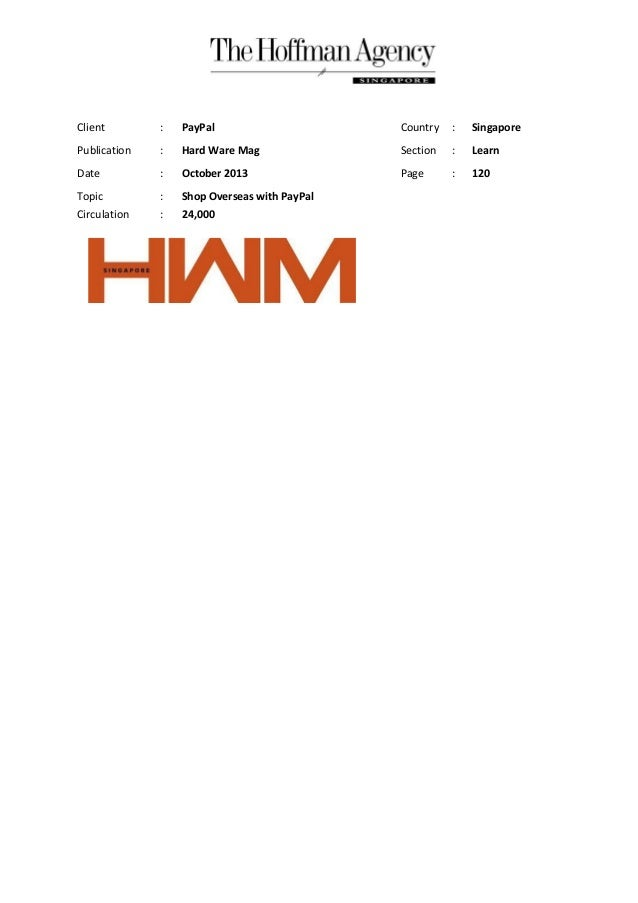 October 2013 hwm shop overseas with pay_pal