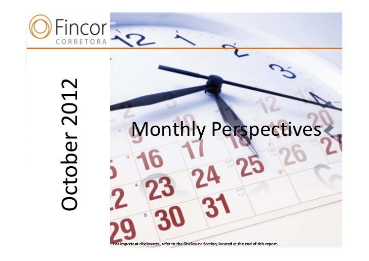 Perspectivas de Mercado Fincor (Outubro 2012)