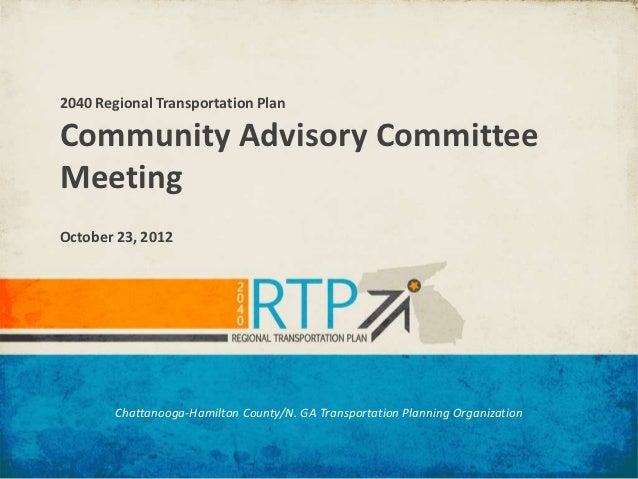 2040 RTP Community Advisory Committee/Core Technical Team #2