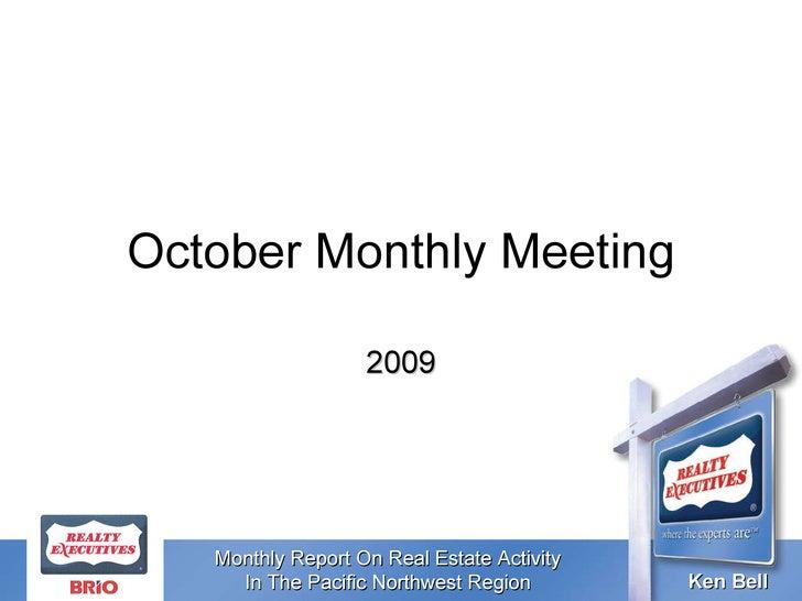 October Monthly Meeting 2009