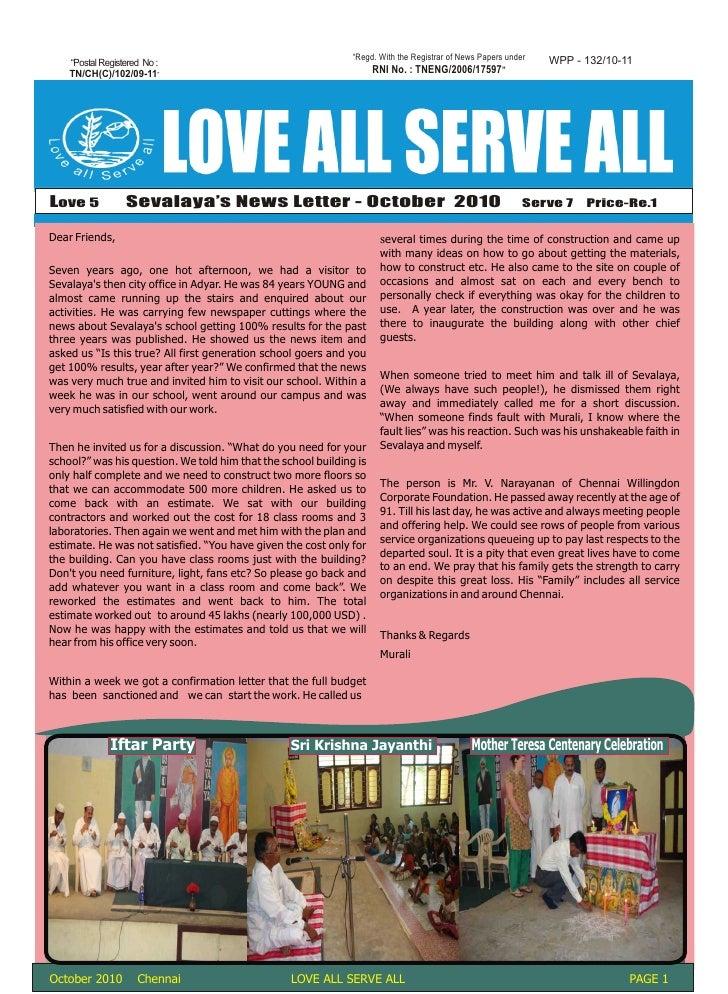 October News Letter 2010