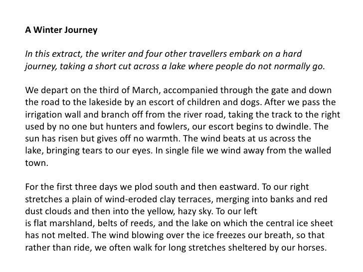 Winter Descriptive Essay