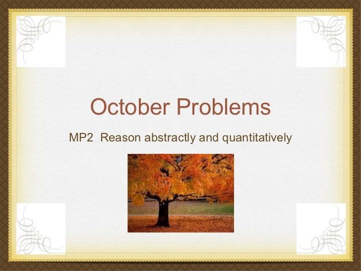 October Problems