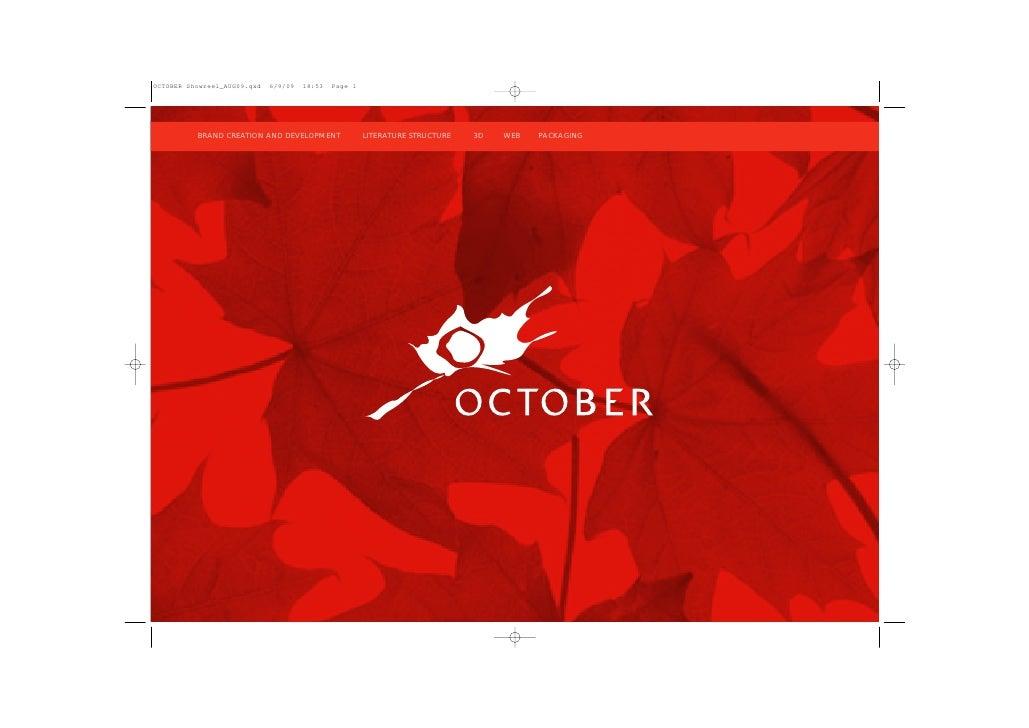 October Showreel A Sept09