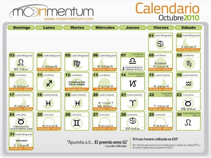calendario octubre 2010