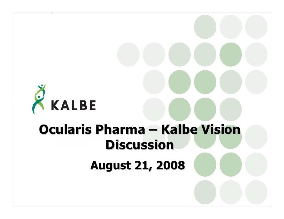 Ocularis   Kalbe Discussion Aug 21[1]