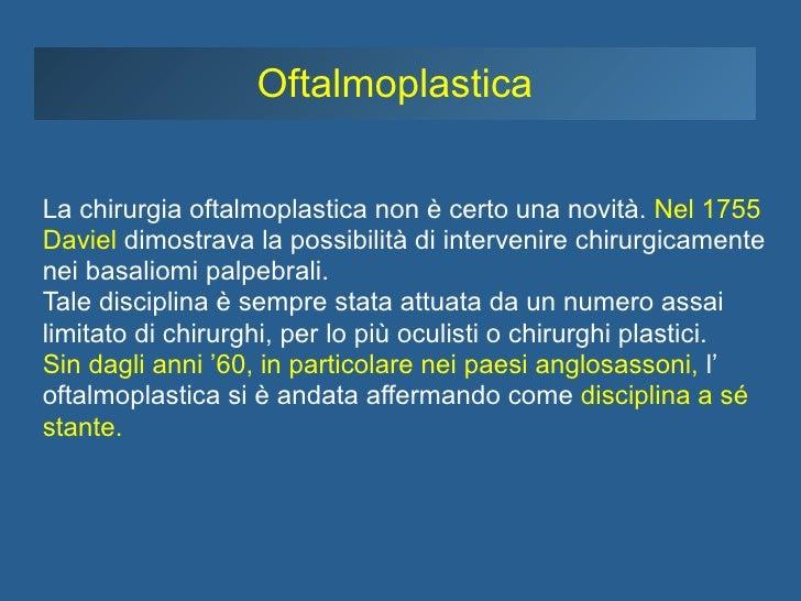 Storia dell'Oculoplastica