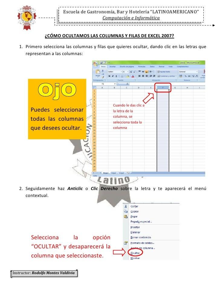 """Escuela de Gastronomía, Bar y Hotelería """"LATINOAMERICANO""""                                              Computación e Infor..."""