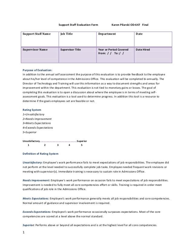 staff appraisal form template .