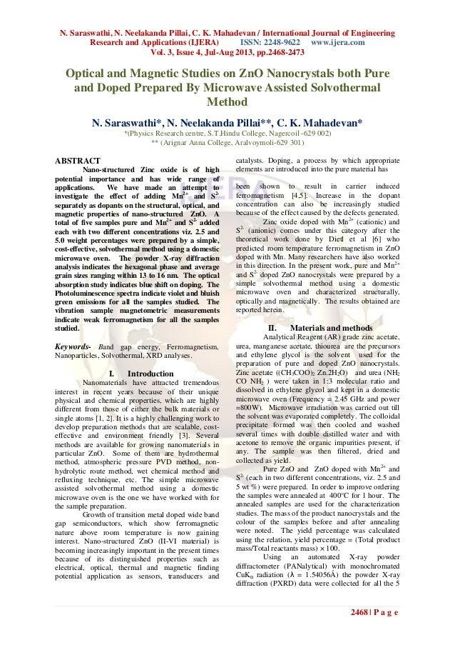 N. Saraswathi, N. Neelakanda Pillai, C. K. Mahadevan / International Journal of Engineering Research and Applications (IJE...