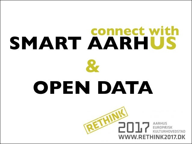 connect with  SMART AARHUS & OPEN DATA