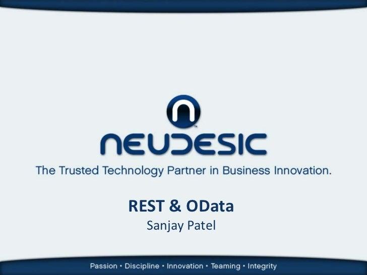 REST & OData  Sanjay Patel
