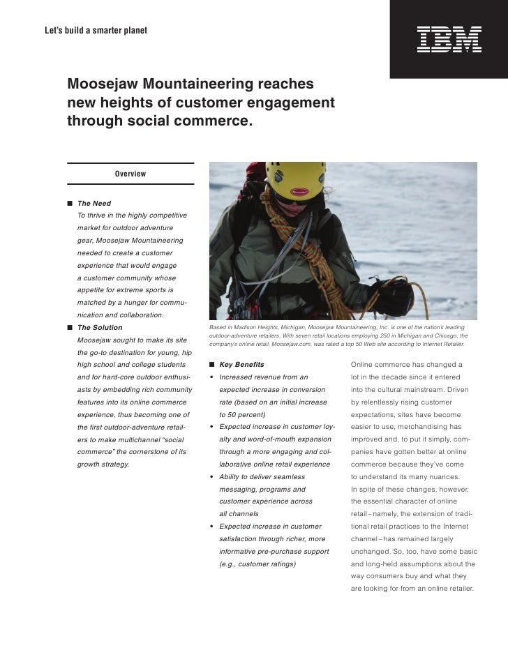 IBM Retail | Social commerce helps Moosejaw Mountaineering succeed