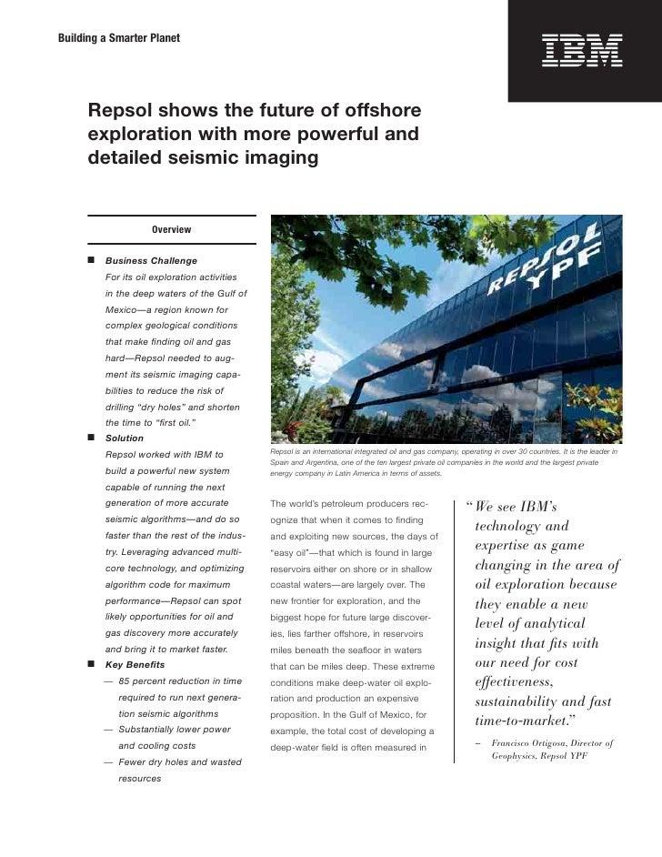 IBM Oil| IBM has helped Repsol enter the future of oil exploration
