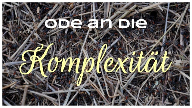 Ode an die Komplexität