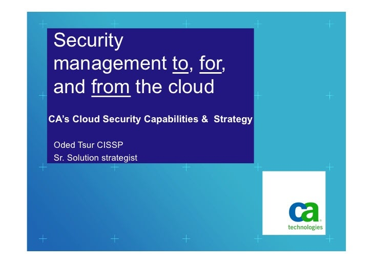 Oded Tsur - Ca Cloud Security