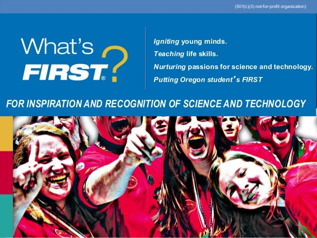 2013 Oregon Dept. of Education Grant Overview for FIRST Teams