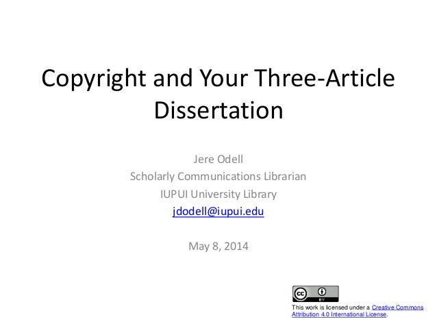 Phd thesis copyright infringement
