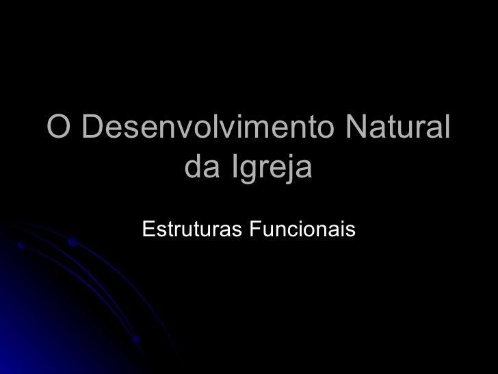 O Desenvolvimento Natural da Igreja Estruturas Funcionais