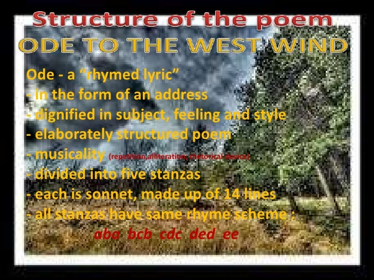 critical analysis of ode to west wind by shelley The review analysed shelley's use of the ode in general:  the very beautiful ' ode to the west wind,' is an example of this.