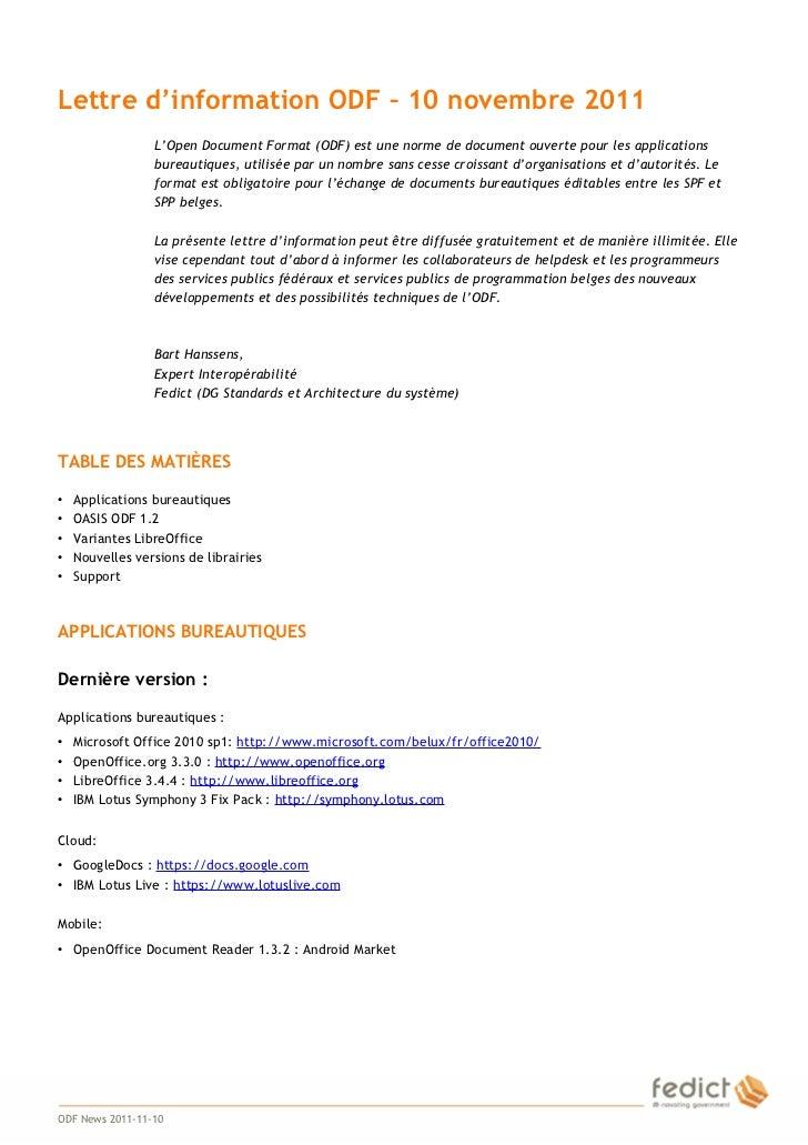 Odfnews Fr 20111110