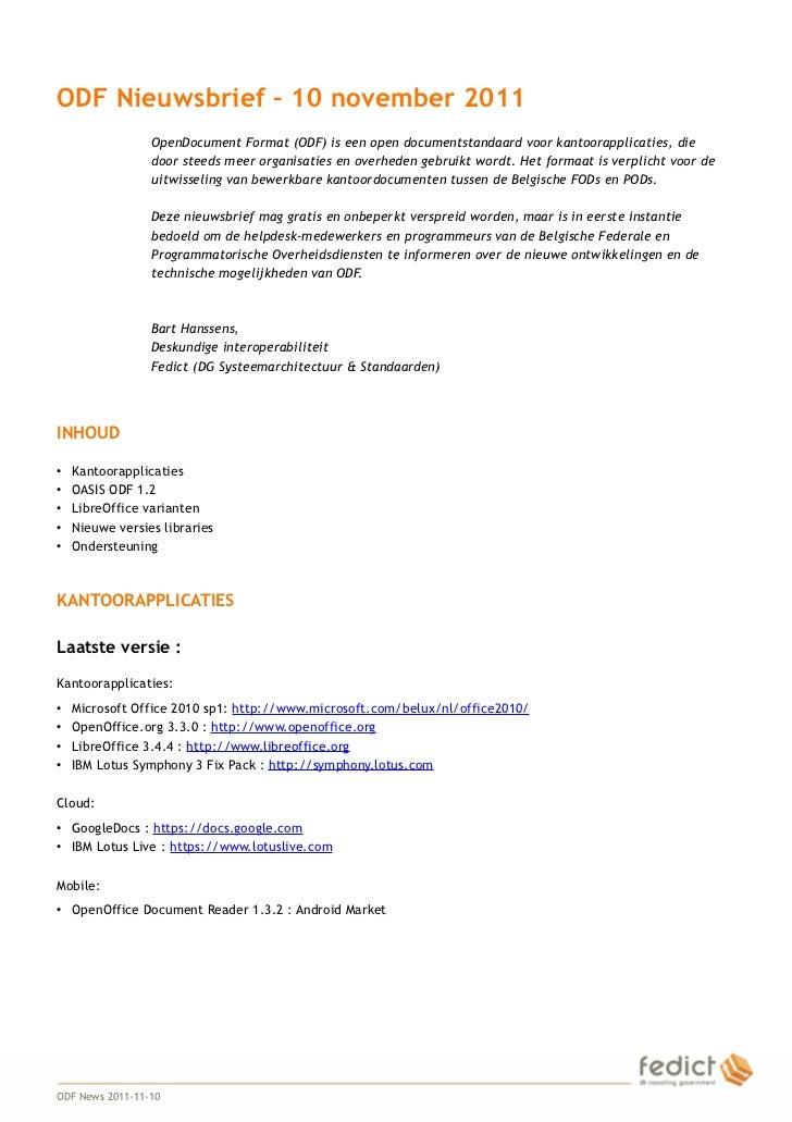Odfnews Nl 20111110