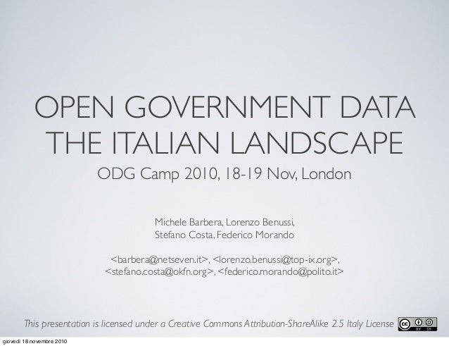 Open Data: The Italian Landscape