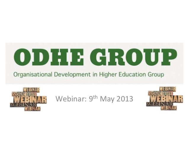 ODHE Session May 2013