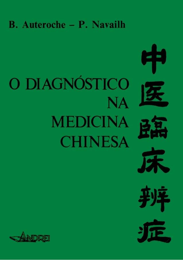 o  DIAGNOSTICO NA  MEDICINA CHINESA