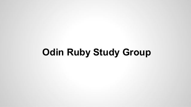 Odin ruby week 1