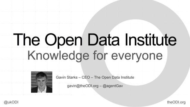 (cc) The Open Data InstituteDozens of countries, hundreds of regions and cities are open datadata.gov – data.gov.uk – data...
