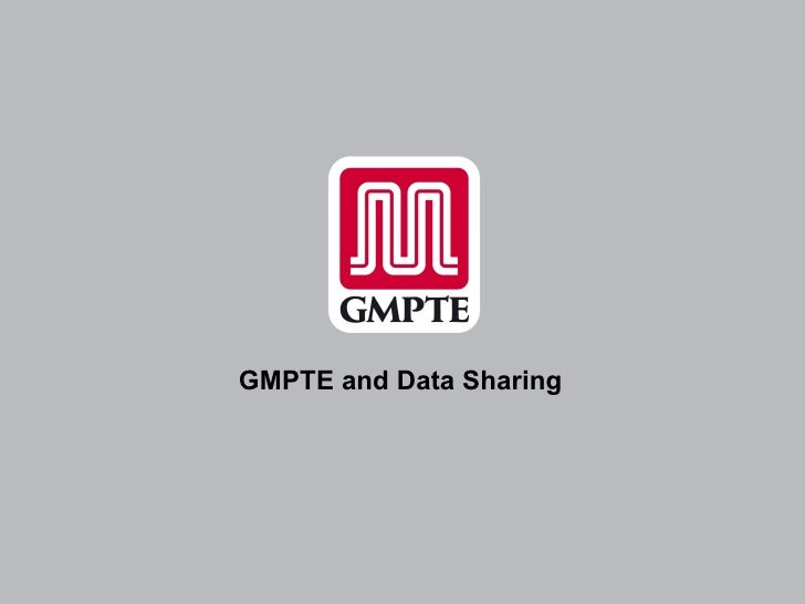 GMPTE Open Data Presentation