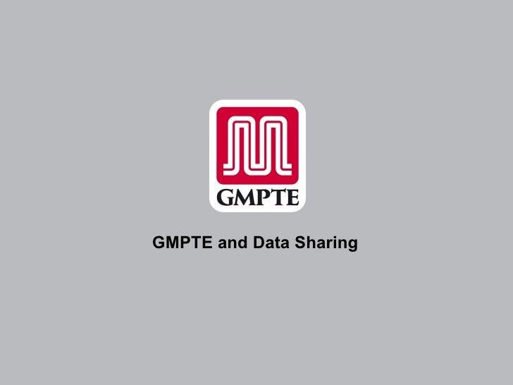 GMPTE Open Data Presentation