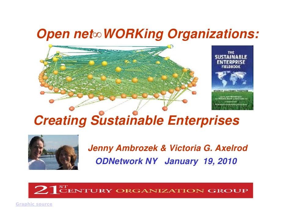 Open net∞WORKing Organizations:           Creating Sustainable Enterprises                                            Jenn...