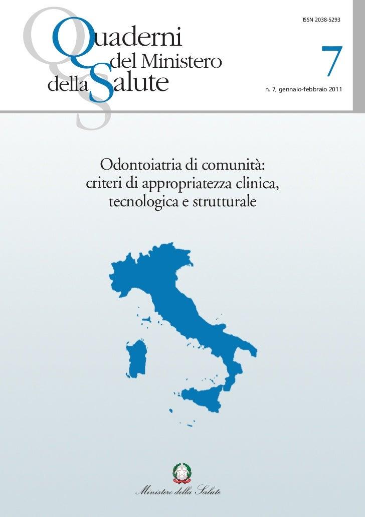 Q                                                ISSN 2038-5293        uaderni         del Ministero                      ...
